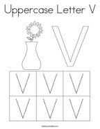 Uppercase Letter V Coloring Page