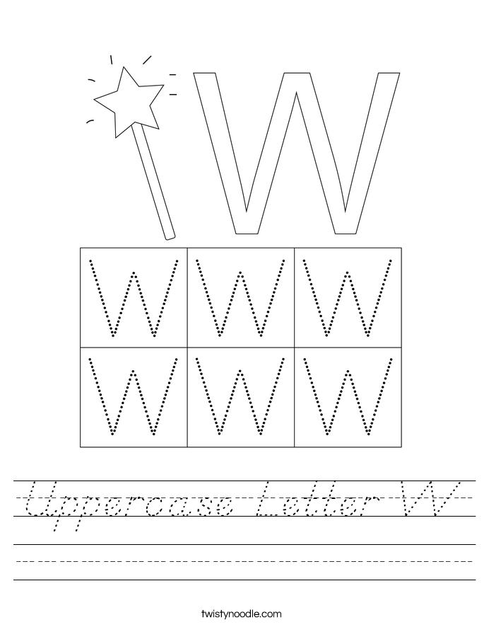 Uppercase Letter W Worksheet