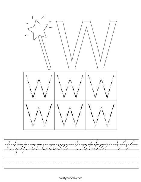 Letter W Worksheet