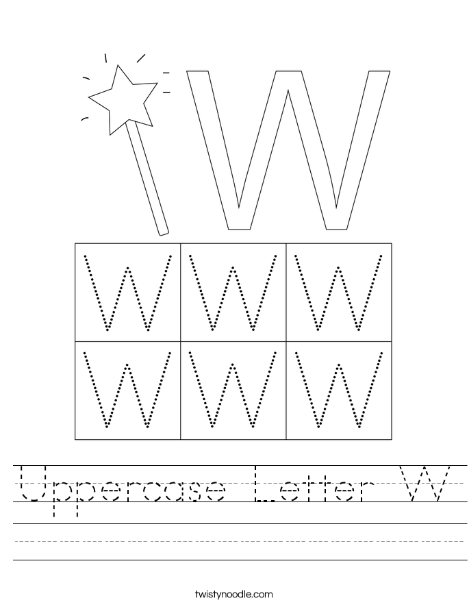 Uppercase Letter W Worksheet