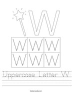 Uppercase Letter W Handwriting Sheet
