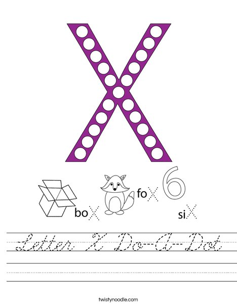 Letter X Do-A-Dot Worksheet