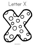 Letter X Coloring Page