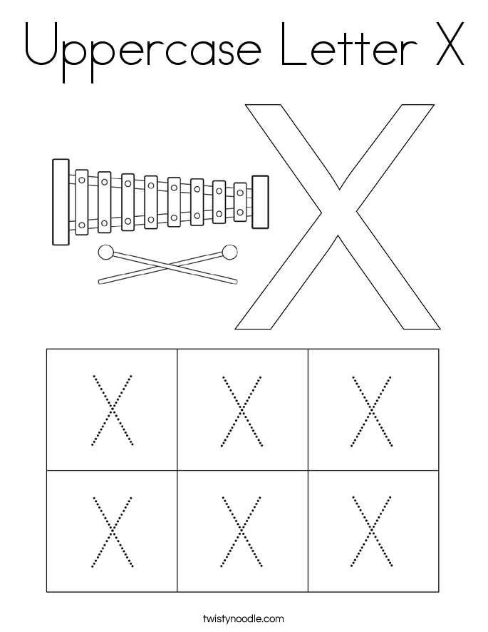 Uppercase Letter X Coloring Page