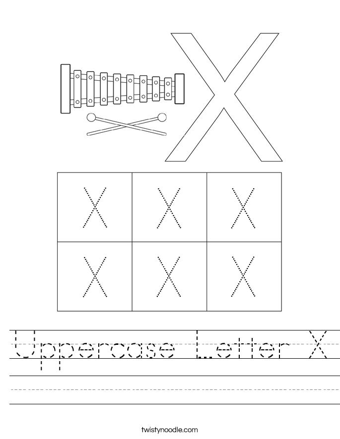 Uppercase Letter X Worksheet