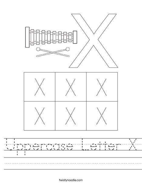 Letter X Worksheet
