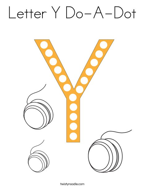 Letter Y Do-A-Dot Coloring Page