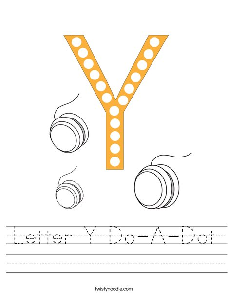 Letter Y Do-A-Dot Worksheet