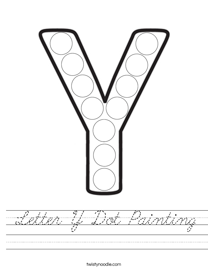 Letter Y Dot Painting Worksheet