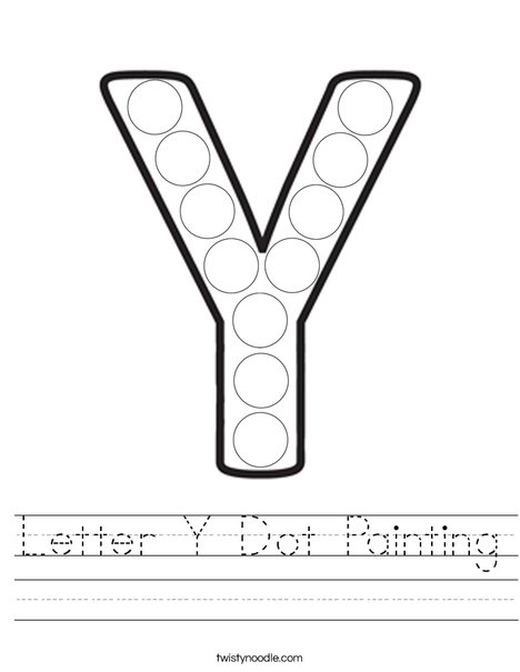 Letter Y Dot Painting Worksheet
