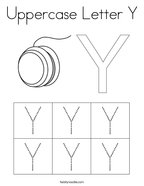 Uppercase Letter Y Coloring Page
