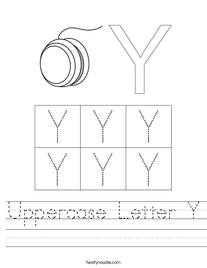 Uppercase Letter Y Worksheet