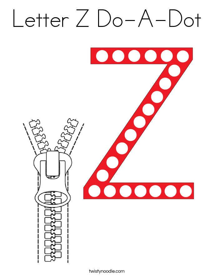 Letter Z Do-A-Dot Coloring Page