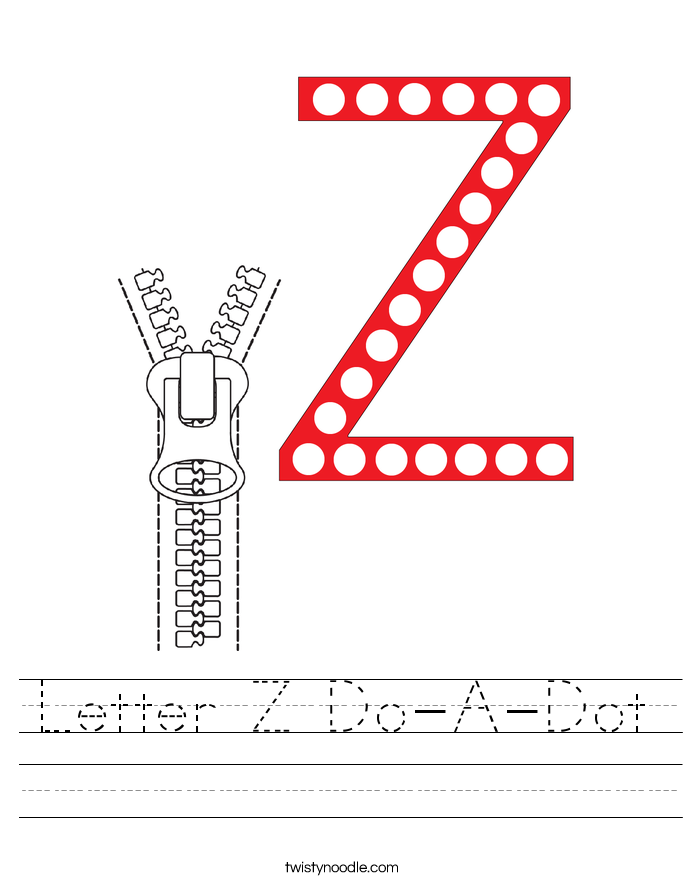 Letter Z Do-A-Dot Worksheet