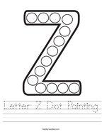 Letter Z Dot Painting Handwriting Sheet