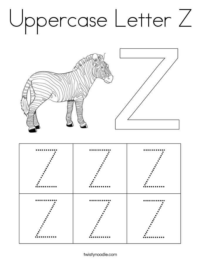 Uppercase Letter Z Coloring Page