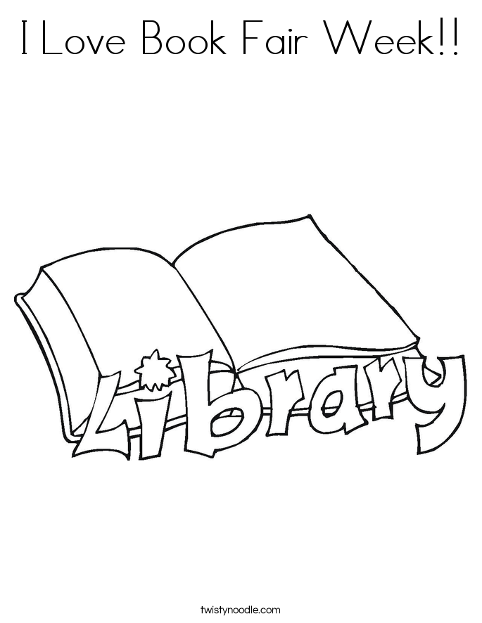 I Love Book Fair Week!! Coloring Page
