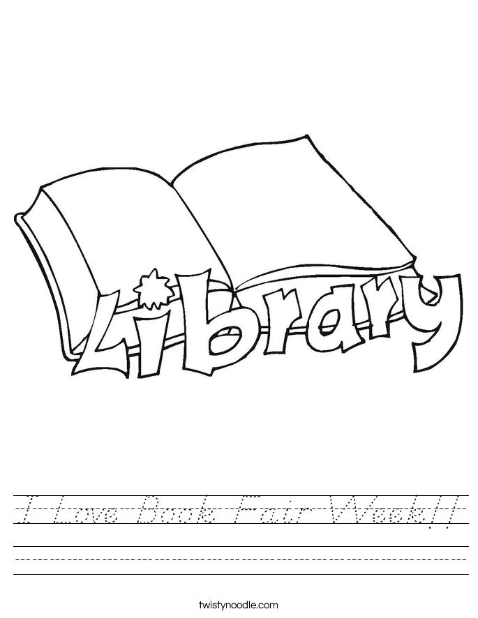 I Love Book Fair Week!! Worksheet