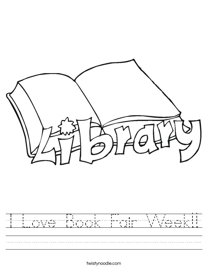 I Love Book Fair Week!! Worksheet
