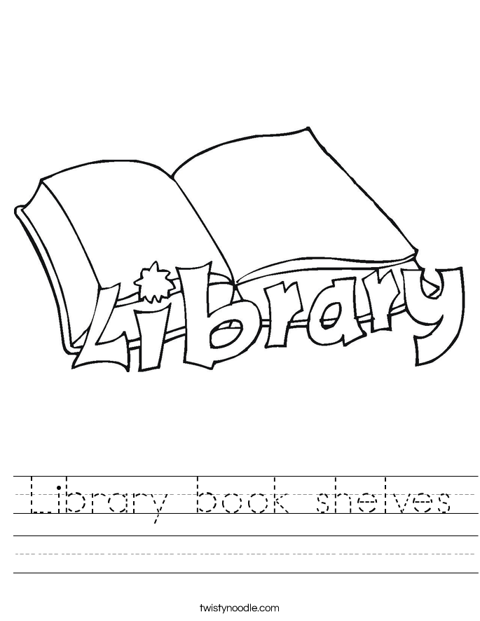 Library book shelves Worksheet
