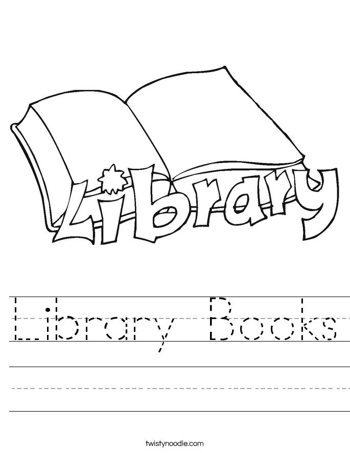 Library Books Worksheet