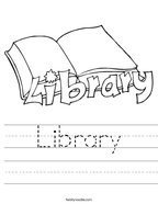 Library Handwriting Sheet