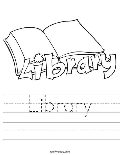 10 Library Words Alphabetical Order Worksheet Printout ...
