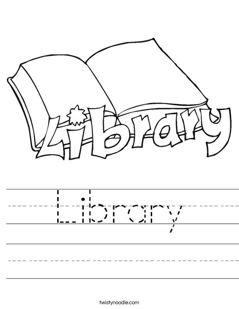 10 Library Words Alphabetical Order Worksheet Printout ...