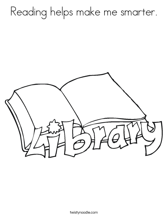 Reading helps make me smarter. Coloring Page