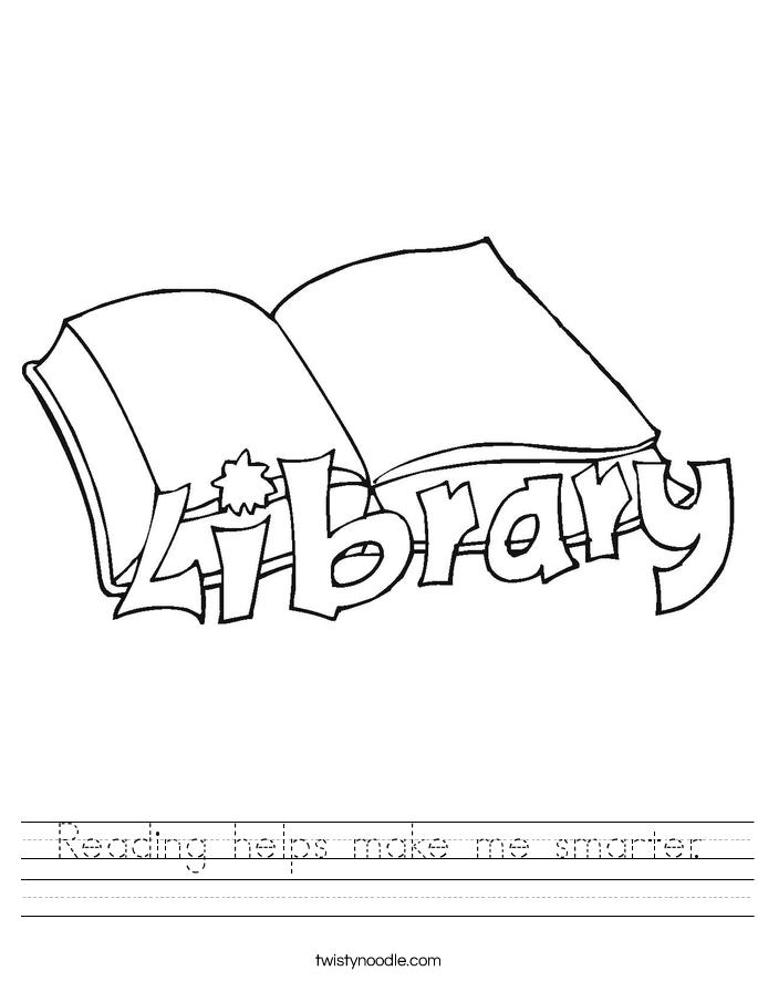 Reading helps make me smarter. Worksheet