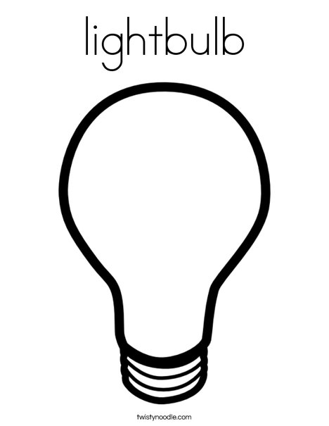graphic relating to Light Bulb Template Printable called lightbulb Coloring Website page - Twisty Noodle