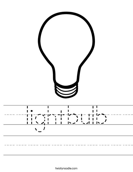 Lightbulb Worksheet
