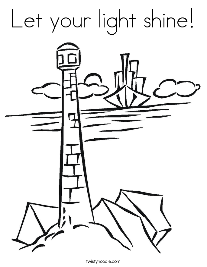 Let your light shine! Coloring Page