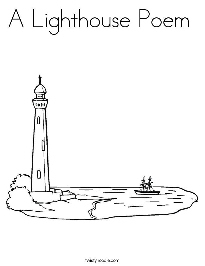 A Lighthouse Poem  Coloring Page