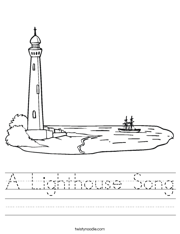 A Lighthouse Song Worksheet