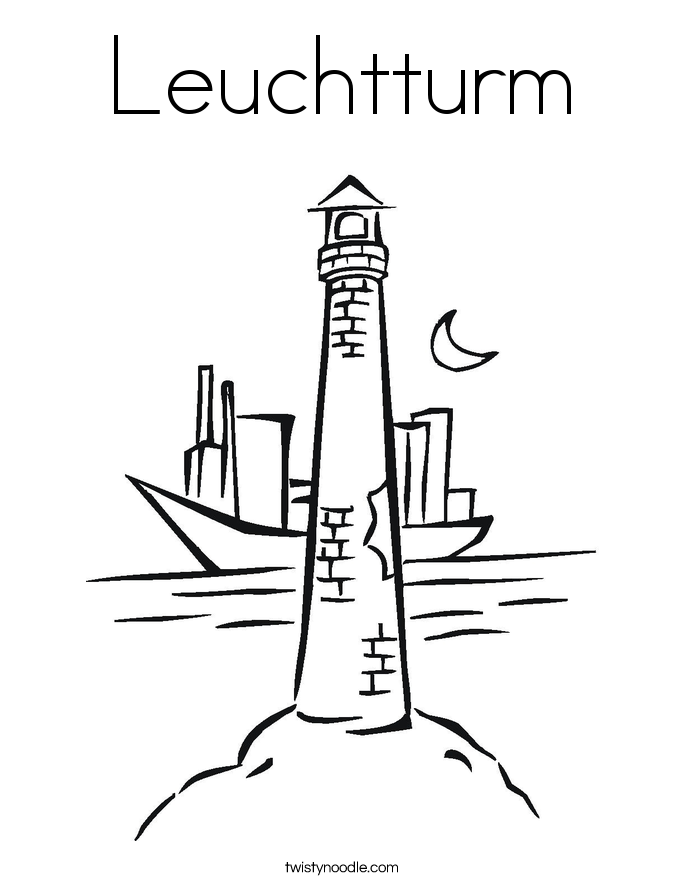 Leuchtturm Coloring Page