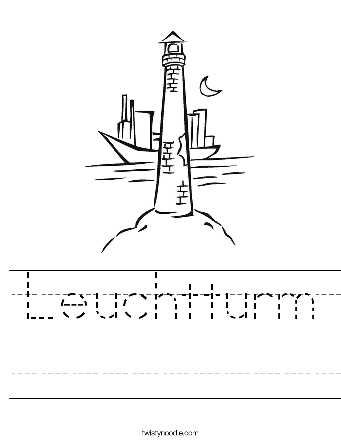 Leuchtturm Worksheet