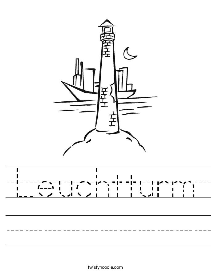 Leuchtturm Worksheet