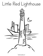 Little Red Lighthouse Coloring Page