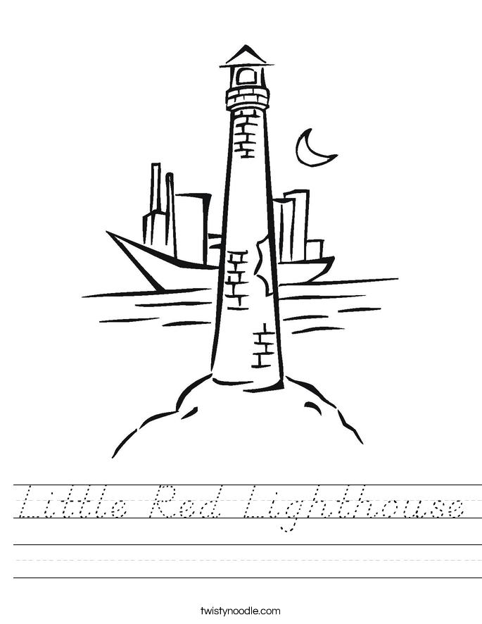 Little Red Lighthouse Worksheet