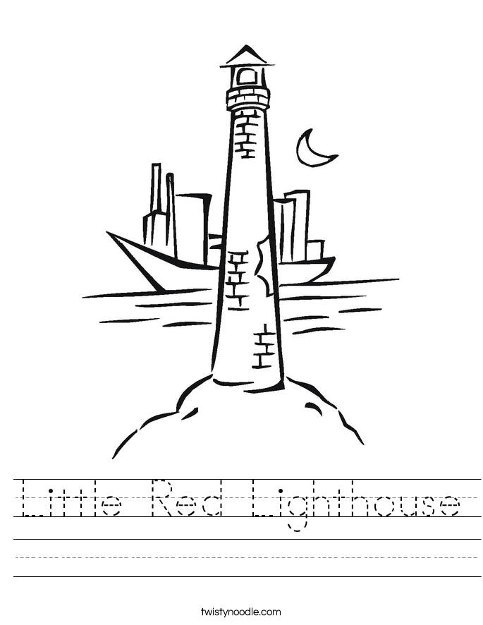 Little Red Lighthouse Worksheet