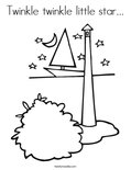 Twinkle twinkle little star... Coloring Page