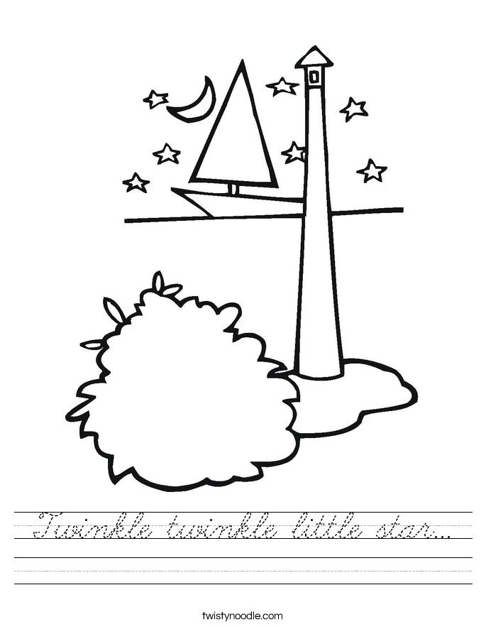 Twinkle twinkle little star... Worksheet