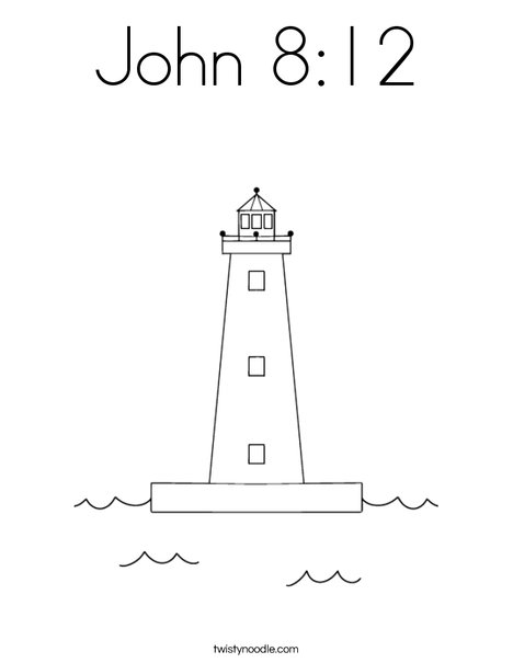Lighthouse Coloring Page