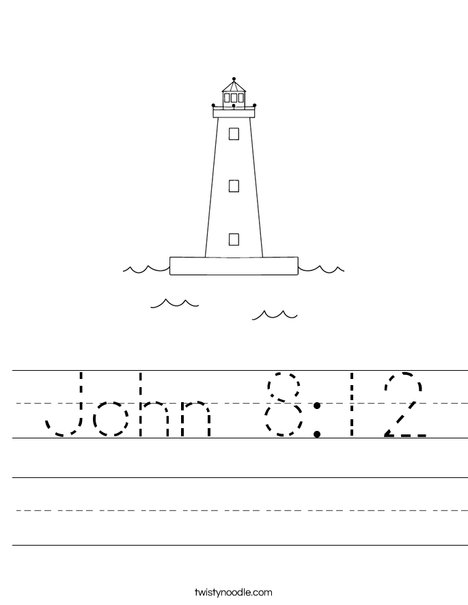 Lighthouse Worksheet