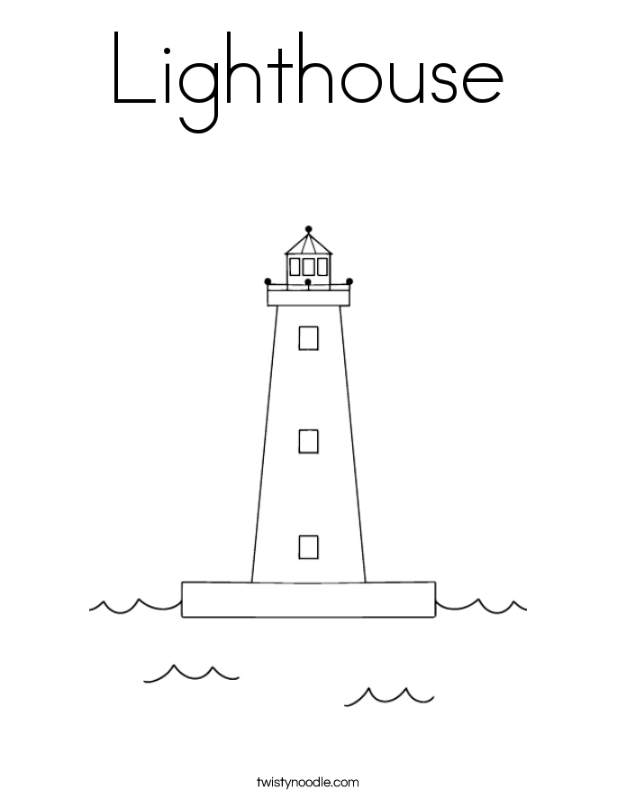Lighthouse Coloring Page.