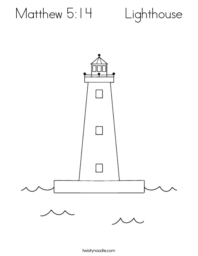 Matthew 5:14        Lighthouse Coloring Page