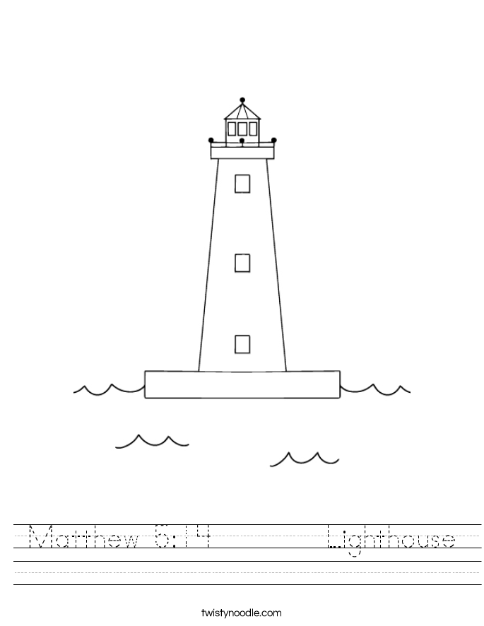 Lighthouse Outline Matthew 5:14 lighthouse