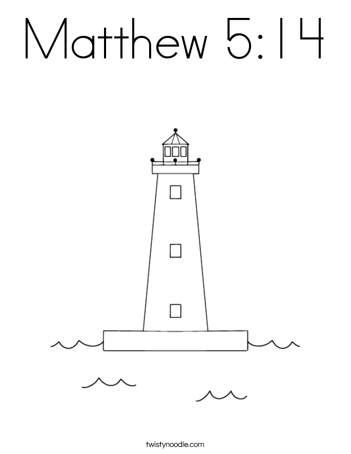 Matthew 5:14 Coloring Page