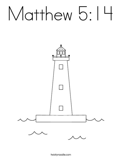 Matthew 514 Coloring Page